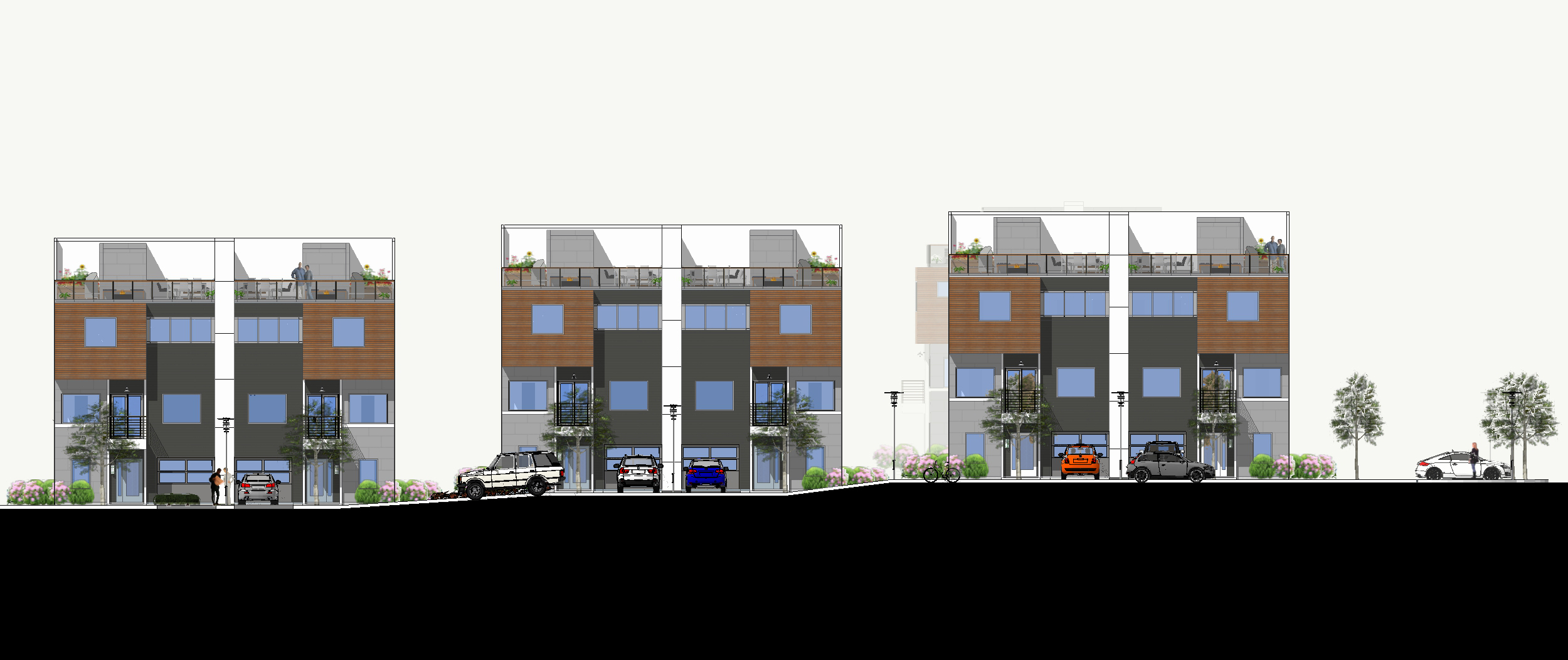 Front Elevation In 2d : Urban trends real estate development building